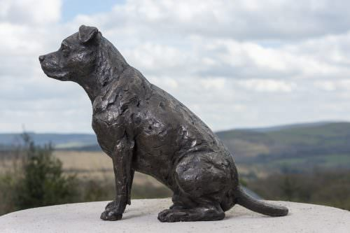 AMERICAN STAFFORDSHIRE BULL TERRIER SCULPTURE