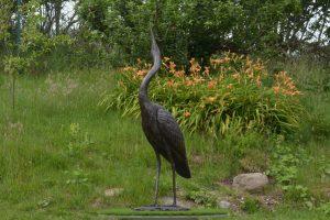 Standing Heron Outdoor Sculpture