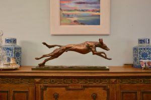 bronze saluki sculpture