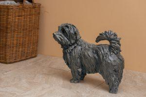 norfolk terrier bronze statue