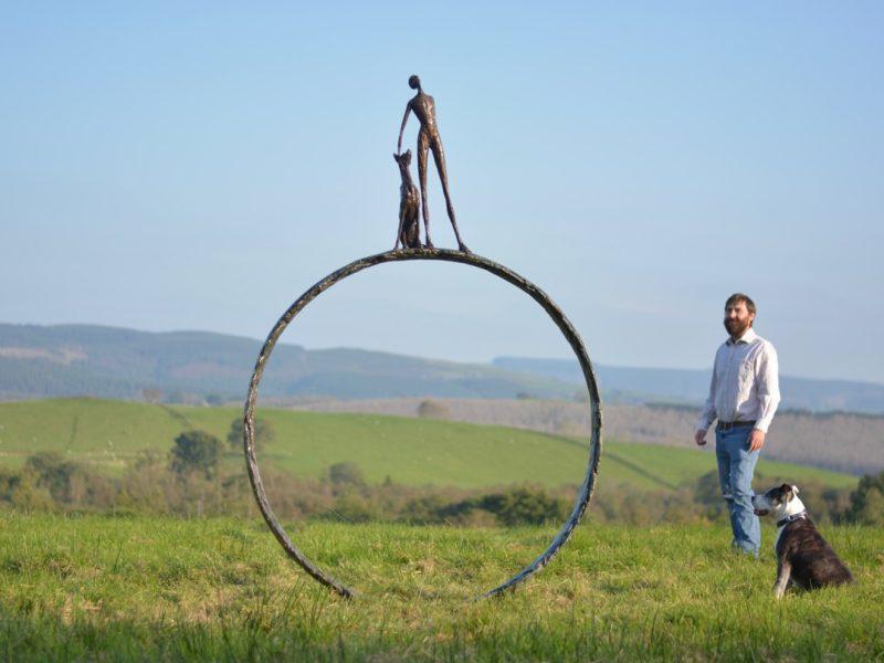 Large Stargazer Ring Outdoor Statue