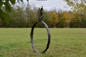 Large Stargazer Ring Man and Dog Sculpture