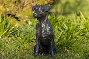 life size jack russell sculpture