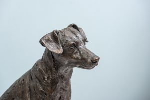 Bronze Jack Russell Terrier Statue