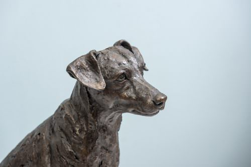 SITTING JACK RUSSELL TERRIER SCULPTURE