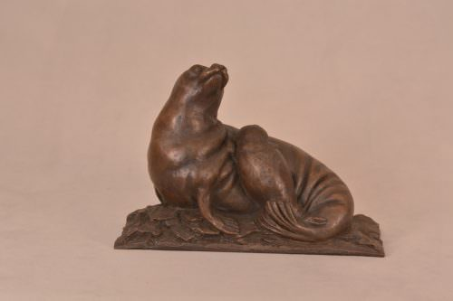 Bronze Seal Sculpture
