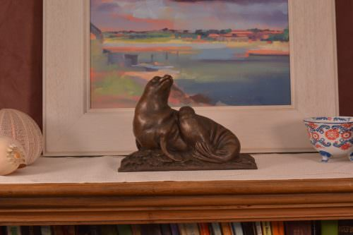 Sea lion sculpture