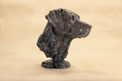 Labrador portrait sculpture