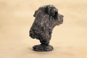 bronze labrador portrait statue