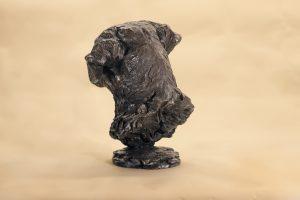 Bronze Labrador Head Statue