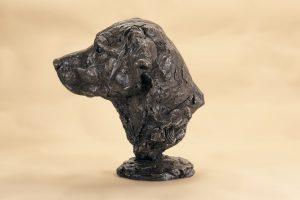 Labrador head statue