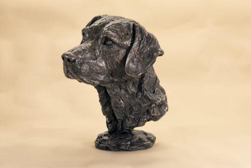 labrador head sculpture