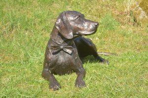 lying speagle statue