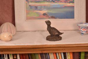 bronze parrot ornament