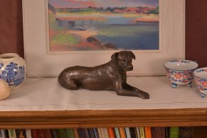 Lying Mixed Breed Dog Ornament