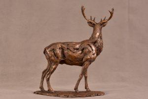 Red Deer Stag Bronze statuette