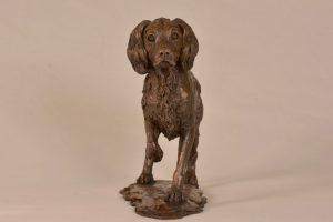 Bronze Spaniel Statue