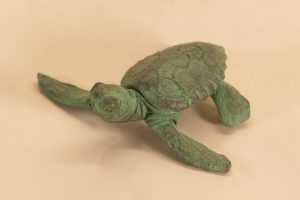 Baby Turtle Raising its head statue