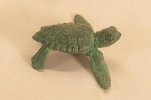 bronze baby turtle sculpture
