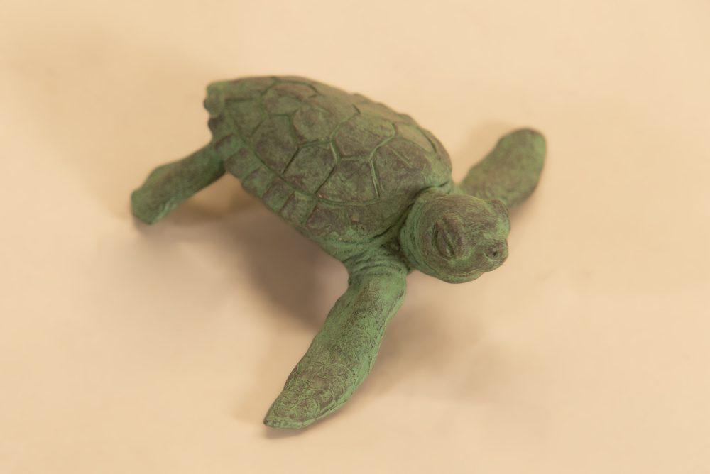 bronze baby turtle statue