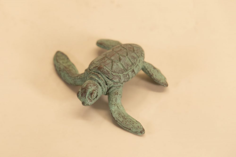 Crawling Baby Turtle Statue